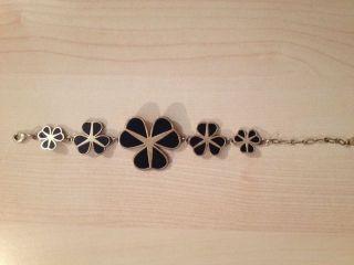 Pilgrim Armband Blumen Schwartz Gold,  Dänisches Design Bild