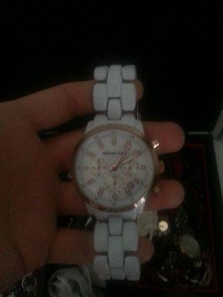 Michael Kors Mk5487 Rose Gold Weiße Armbanduhr Für Damen Bild