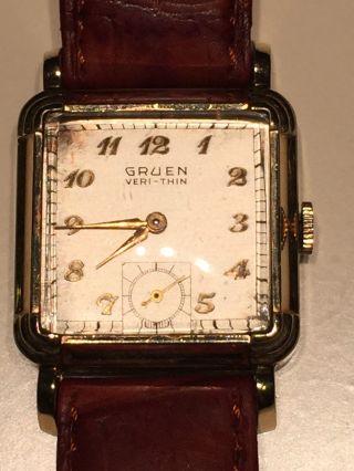 Gruen Veri - Thin Armbanduhr Ca.  1938 - 1950er Jahre Bild