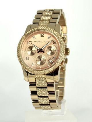 Michael Kors Mk5827 Damen Armbanduhr Rotgold Bild
