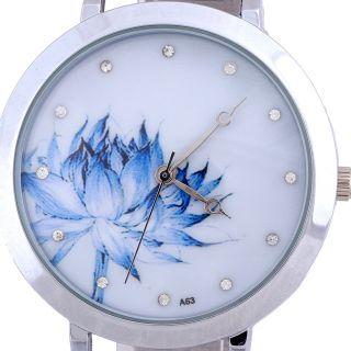 Mode Damen Lotus Gitterband Beobachten Analog Quarz Armbanduhren Bild