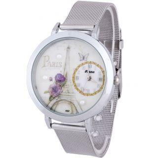 Damen Lotus Gitterband Beobachten Analog Quarz Armbanduhren Bild