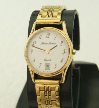 Maurice Lacroix Damen Armbanduhr 7 Jewels Datum Vergoldet Swiss V8 Eta Werk Bild