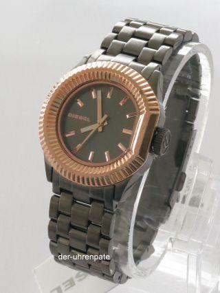 Diesel Damenuhr / Damen Uhr Edelstahl Schwarz Rose Gold Dz5257 Bild
