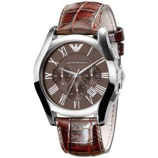 Emporio Armani Herren Uhr Armbanduhr Klassik Leder Braun Ar0671 Bild