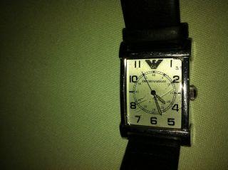 Emporio Armani Armbanduhr Schwarz Leder Ar - 0211 Bild