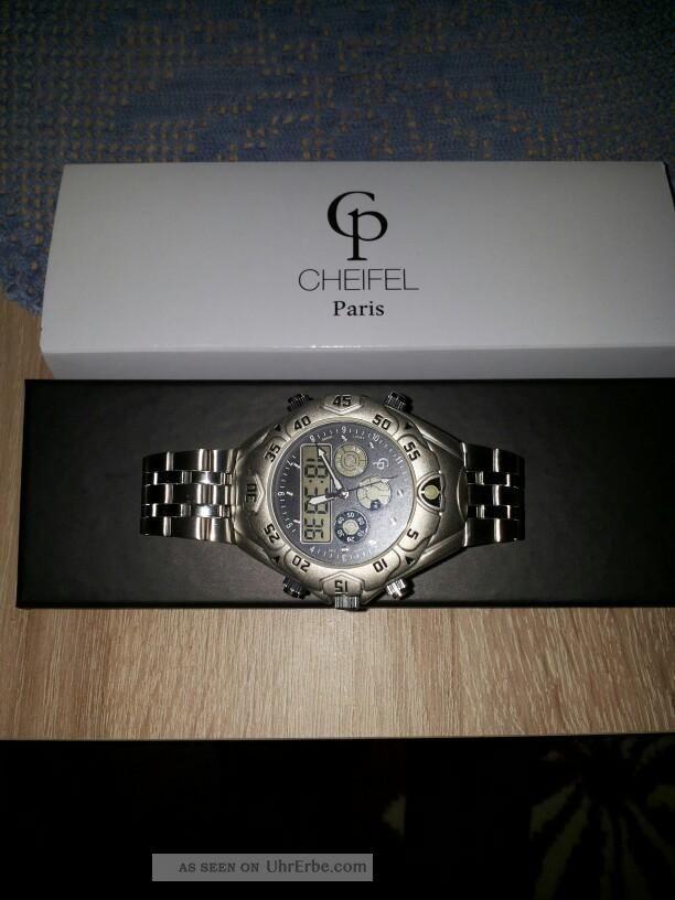 Armbanduhr Cheifel Paris - Chronograph Mit 4 Lcd - Anzeigen, Armbanduhren Bild