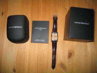 Emporio Armani Uhr Armbanduhr Herrenuhr Herren D Braun Star G Dunkelbraun Bild