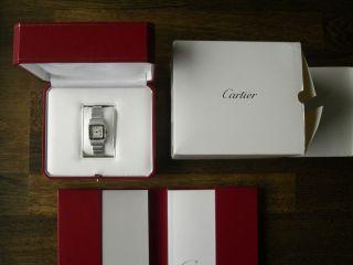 Cartier Santos Damenuhr W20017d6 Bestzustand Mit Zertifikat Bild