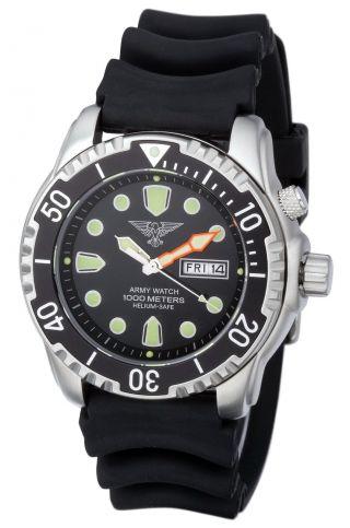 EichmÜller Taucheruhr Ep846 Armywatch 1000 M Herrenuhr Heliumventil Seiko Vx Bild