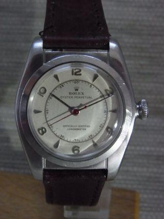 1946er Rolex Oyster Perpetual Bubble Back Chronometer Ref 2940 Bild