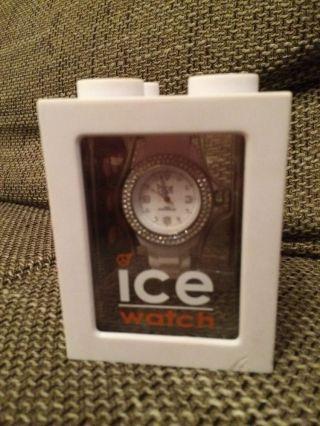 Ice Watch Uhr Stone - White Silver Sili - Small St.  Ws.  S.  S.  09 Swarovski Steine Bild