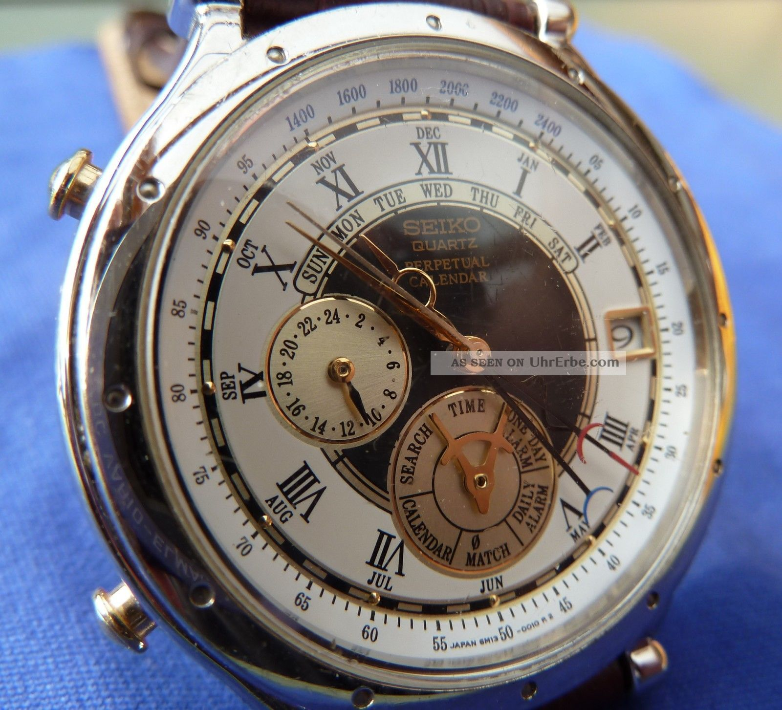 Seiko Perpetual Calendar Vintage : Seiko m perpetual calendar age of discovery