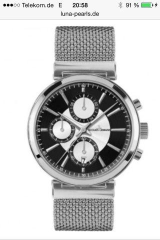 Jacques Lemans Verona Herren 44mm Chronograph Datum Mineral Glas Uhr 1 - 1699d Bild