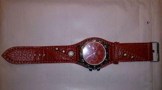 Diesel Herren Uhr Armbanduhr Rot Bild