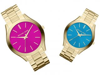Michael Kors Uhr Damenuhr Runway Gold Türkis Pink Inkl.  Rechnung Bild