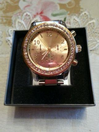 Damen Uhr Mit Strass Bild