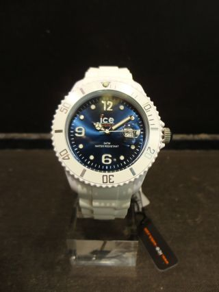 Ice Watch Si.  Wb.  B.  S.  10 Damen Uhr Herren Unisex Weiss/ Blau Bild