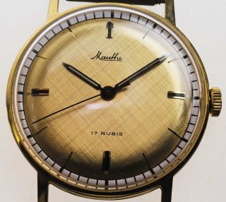 Mauthe 612 Watch Damen Herren Uhr 1950 /1960 Handaufzug Lagerware Nos Vintage 83 Bild