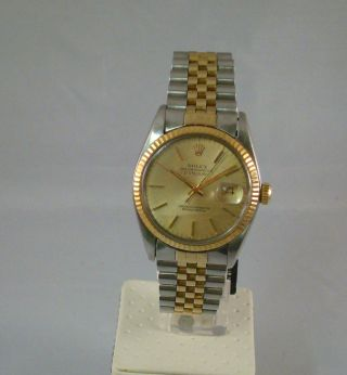 Rolex 16013 Datejust Stahl Gold Automatic Chronometer Bild