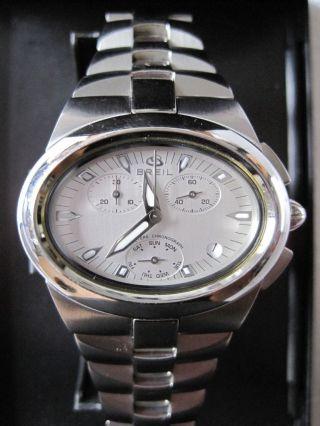Breil Chronograph,  Oval 40mmx30mm,  Edelstahl, Bild