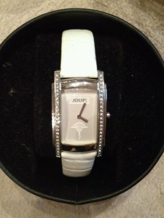 Joop Damen Uhr Armbanduhr Armbanduhren Weiss Weiß Neupreis 190€ Bild