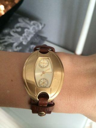 Sehr Schöne Armbanduhr Von Mango Goldfarben Echtleder Bild