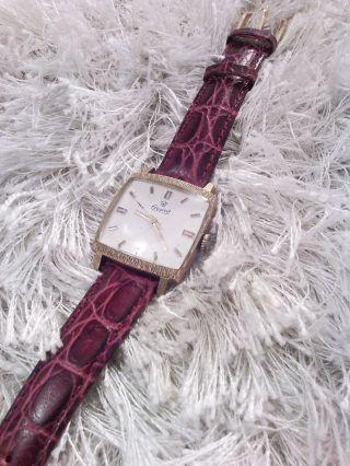 Exquisit Herren Uhr Gold 60er Jahre Mechanisch Sehr Schön Vintage Bild