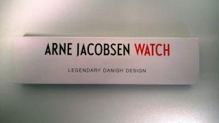 Rosendahl Arne Jacobsen Bankers Clock Armbanduhr Armband Schwarz Und Weiß 40mm Bild