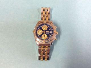 Breitling Chronomat Stahl/gold Pilotband Ref.  B13050.  1 Bild