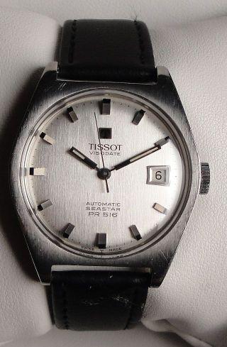 Vintage Armbanduhr Automatic Tissot Visodate Seastar Pr 516 I.  Edelstahl M.  Datum Bild