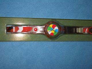 Tymer Armbanduhr 3,  5cm Gehäuse,  Schwarz/rot/weiß/bunt - Ungetragen Bild