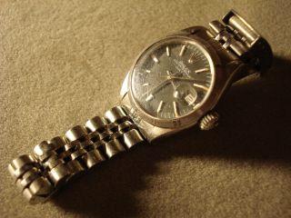 Rolex Damenuhr,  Oyster Perpet. ,  Stahl,  Jubilee Band,  Ref.  69190,  Datum, . Bild