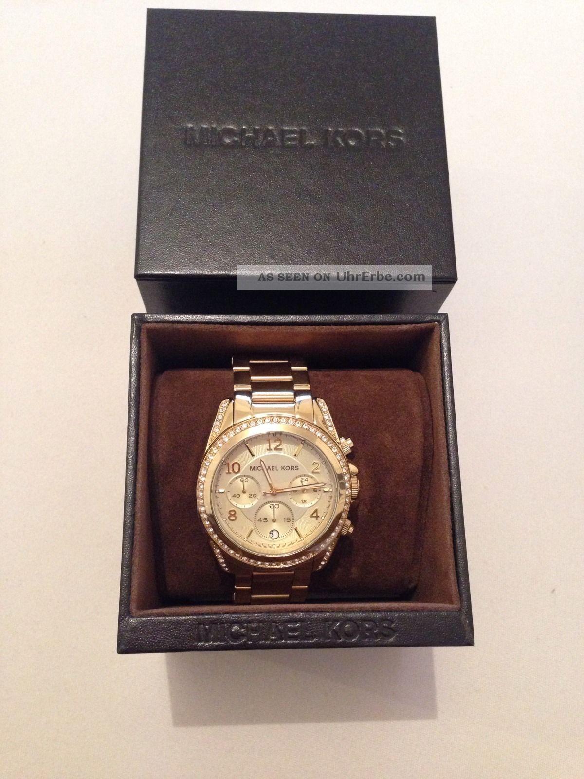 Michael Kors Damenuhr Gold Mk - 5166 Armbanduhren Bild