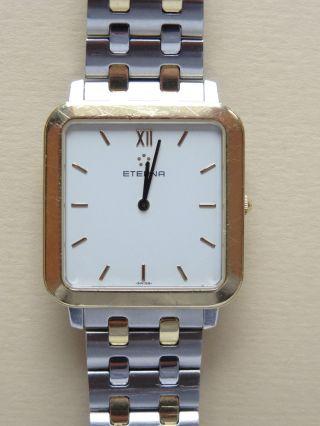 Eterna Armbanduhr 750er Gold 18 Karat Mit Schweizer Uhrwerk & - Armband Bild