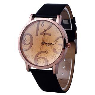 Unisex Leder Damen Edelstahl Mode - Quarz - Uhr - Armbanduhr - Geschenk Bild