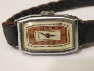 Bildschöne Mentor Art Deco Damenuhr 20er Jahre Handaufzug Uhr Läuft Weihnachten Bild