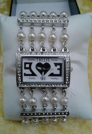 Bezaubernd Schöne Damen Uhr Mit Perlen - 3 - Stufig Kürzbar - Gliederarmbanduhr Bild
