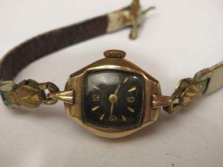 Sammler Edle Junghans Antik Damenuhr Handaufzug Black Beauty 50er Jahre Tonneau Bild