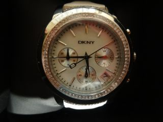 Dkny Damen - Armbanduhr Chronograph Quarz Leder Ny8585 Bild