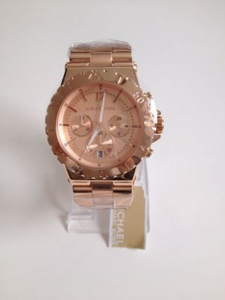 Michael Kors Mk5314 Damenuhr Chronograph Rosegold Neu&ovp Uvp 249€ Bild