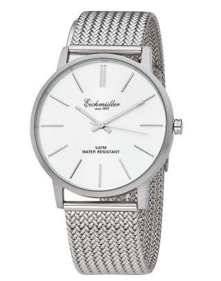 Flache EichmÜller Uhr Design Uhr Herrenuhr Edelstahl Slimline,  5 Atm,  Silber Bild