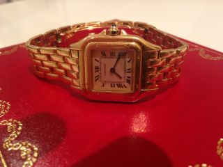 Cartier Panthere 18k Gold - Damenuhr Bild