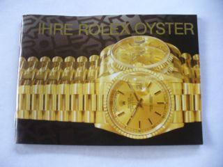 1 Rolex - Booklet Für Die Rolex Oyster Bild
