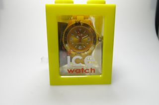 Ice Watch Cs.  Yw.  Up.  10 Kunststoff Armband Herren Uhr Damen Big Model Yellow Bild