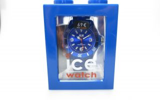 Ice Watch Cs.  Be.  B.  P.  10 Kunststoff Armband Herren Uhr Damen Big Model Blue Bild