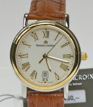 Maurice Lacroix Damenuhr Edelstahl Vergoldet Luxusuhr Armbanduhr Nr.  1467 Bild