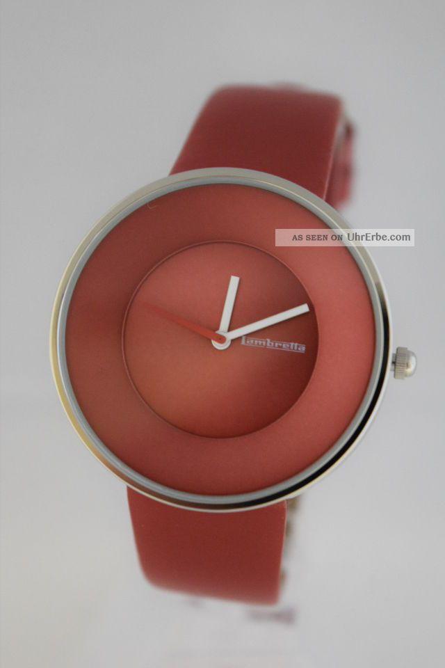 Lambretta Damen Armbanduhr Cielo Red (rot) 2101,  Lederarmband Armbanduhren Bild
