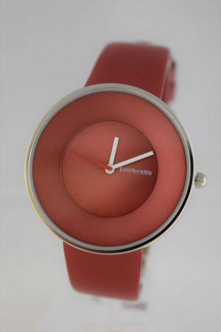 Lambretta Damen Armbanduhr Cielo Red (rot) 2101,  Lederarmband Bild