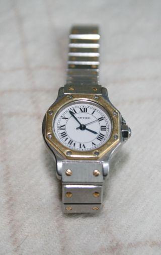 Cartier Santos Armbanduhr Für Damen Bild